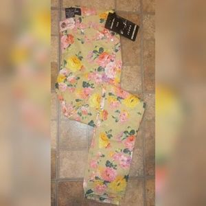Denim - Junior Girls Floral Jean Size 7 New 💐